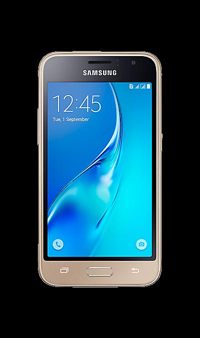 Samsung Galaxy J1 (2016) SM-J120F/DSСмартфоны<br>2G, 3G, 4G, Wi-Fi; ОС Android; Дисплей сенсорный емкостный 16,7 млн цв. 4.5; Камера 5 Mpix, AF; Разъем для карт памяти; MP3, FM,  GPS / ГЛОНАСС; Вес 131 г.<br><br>Colour: Золотистый