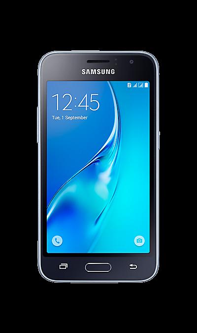 Samsung Galaxy J1 (2016) SM-J120F/DSСмартфоны<br>2G, 3G, 4G, Wi-Fi; ОС Android; Дисплей сенсорный емкостный 16,7 млн цв. 4.5; Камера 5 Mpix, AF; Разъем для карт памяти; MP3, FM,  GPS / ГЛОНАСС; Вес 131 г.<br><br>Colour: Черный