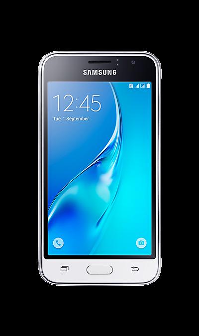 Samsung Galaxy J1 (2016) SM-J120F/DSСмартфоны<br>2G, 3G, 4G, Wi-Fi; ОС Android; Дисплей сенсорный емкостный 16,7 млн цв. 4.5; Камера 5 Mpix, AF; Разъем для карт памяти; MP3, FM,  GPS / ГЛОНАСС; Вес 131 г.<br><br>Colour: Белый