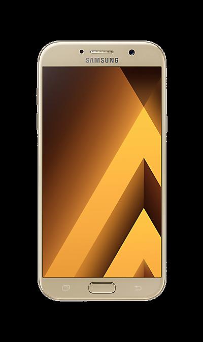 Samsung Galaxy A7 (2017) SM-A720F золотистыйСмартфоны<br>2G, 3G, 4G, Wi-Fi; ОС Android; Дисплей сенсорный емкостный 16,7 млн цв. 5.7; Камера 16 Mpix, AF; Разъем для карт памяти; MP3, FM,  BEIDOU / GPS / ГЛОНАСС; Вес 186 г.<br><br>Colour: Золотистый