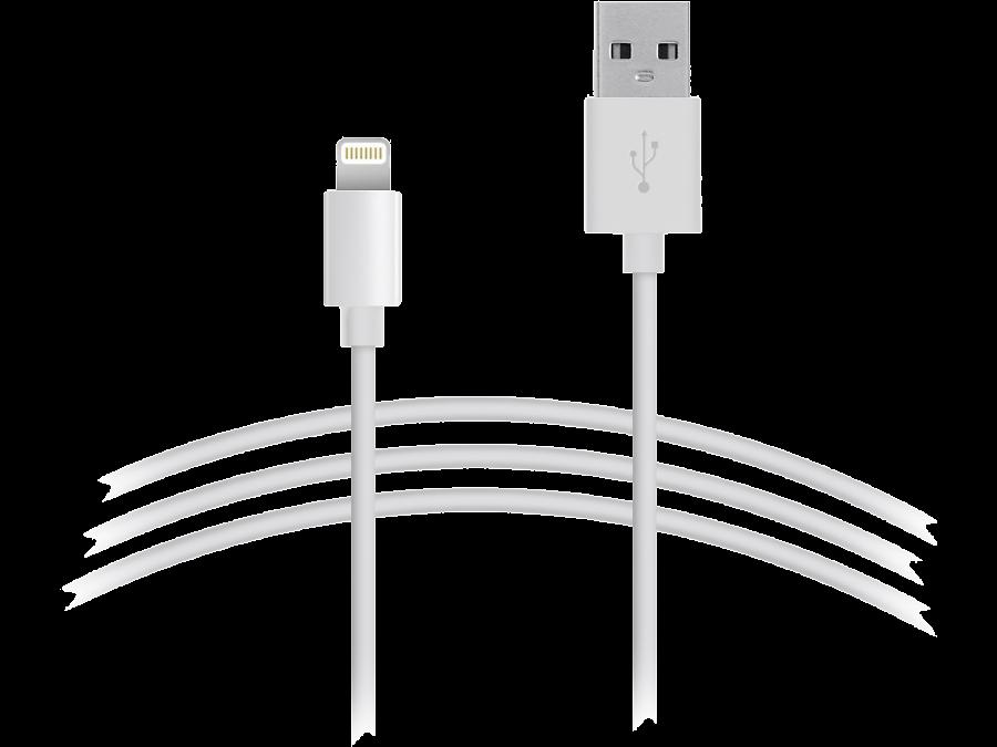 Кабель Continent USB - Lightning (белый)