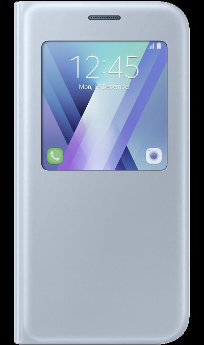 Чехол-книжка Samsung для Samsung Galaxy A5 (2017), полиуретан, голубойЧехлы и сумочки<br>Чехол поможет не только защитить ваш Samsung Galaxy A5 (2017) от повреждений, но и сделает обращение с ним более удобным, а сам аппарат будет выглядеть еще более элегантным.<br><br>Colour: Голубой