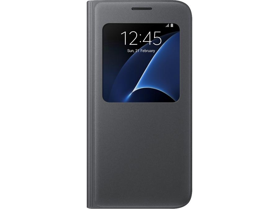 Чехол-книжка Samsung для Samsung Galaxy S7, полиуретан, черный