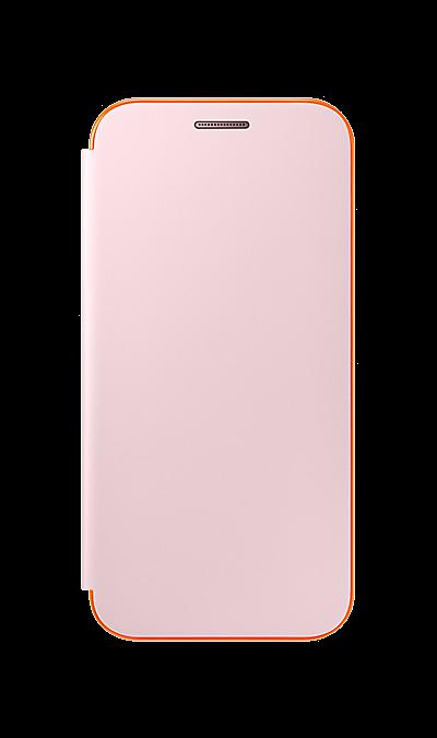 Samsung Чехол-книжка Samsung для Samsung Galaxy A3 (2017), полиуретан, розовый чехол для сотового телефона takeit для samsung galaxy a3 2017 metal slim металлик