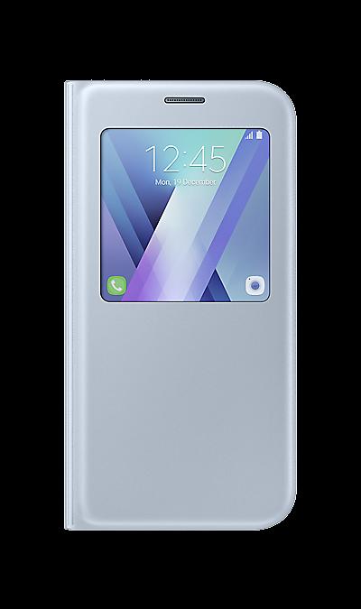 Samsung Чехол-книжка Samsung для Samsung Galaxy A7 (2017), полиуретан, голубой samsung чехол книжка samsung для samsung galaxy a5 2017 полиуретан золотистый