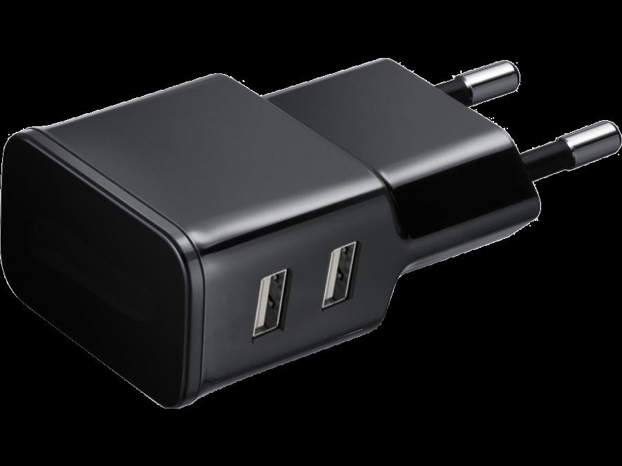 Зарядное устройство сетевое NoName (2 USB разъема)