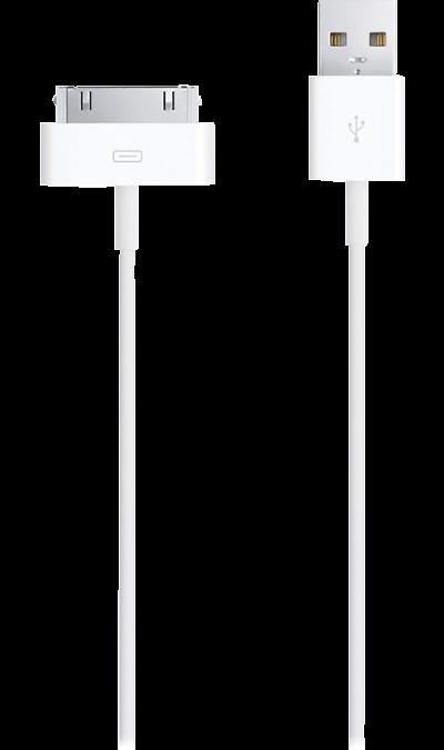 Кабель Continent USB - 30 pin (белый)