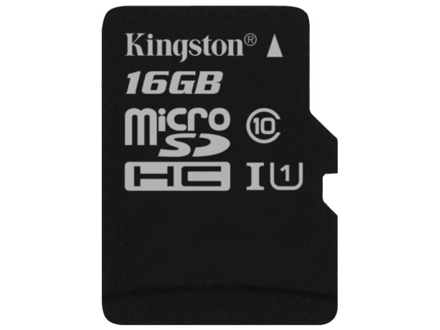 Карта памяти Kingston Technology MicroSD 16 ГБ class 10