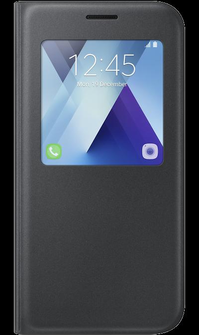 Чехол-книжка Samsung для Samsung Galaxy A7 (2017), полиуретан, черныйЧехлы и сумочки<br>Чехол поможет не только защитить ваш Samsung Galaxy A7 (2017) от повреждений, но и сделает обращение с ним более удобным, а сам аппарат будет выглядеть еще более элегантным.<br><br>Colour: Черный