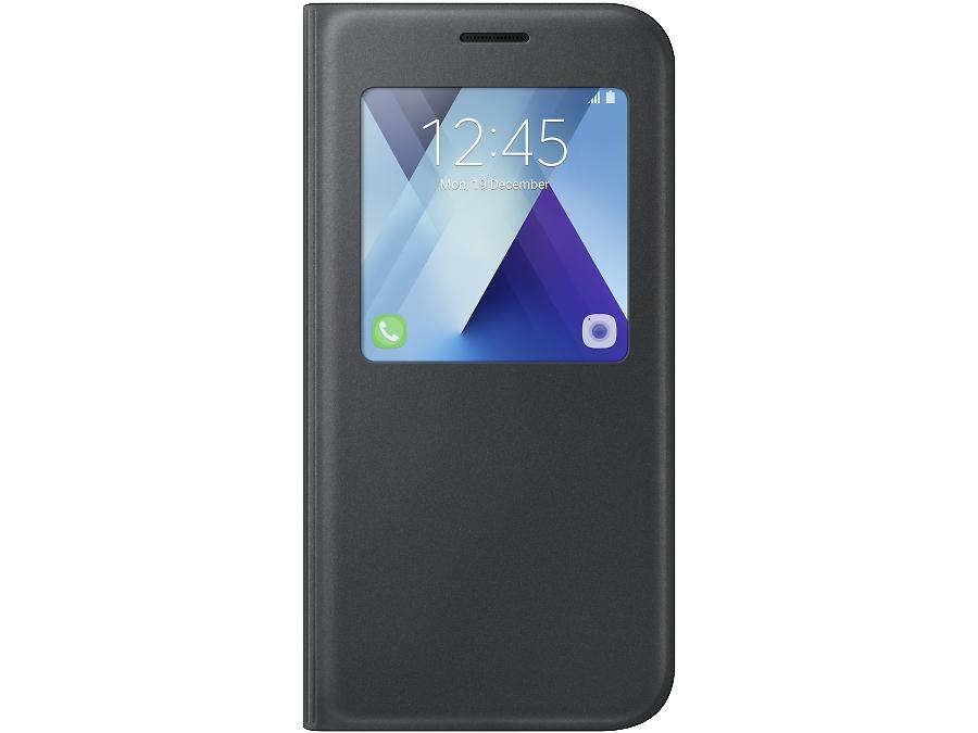 Чехол-книжка Samsung для Samsung Galaxy A7 (2017), полиуретан, черный