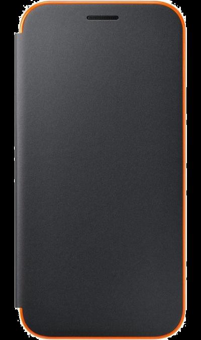 Чехол-книжка Samsung для Samsung Galaxy A3 (2017), полиуретан, черныйЧехлы и сумочки<br>Чехол поможет не только защитить ваш Samsung Galaxy A3 (2017) от повреждений, но и сделает обращение с ним более удобным, а сам аппарат будет выглядеть еще более элегантным.<br><br>Colour: Черный