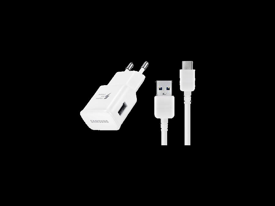 Зарядное устройство сетевое Samsung USB Type-C (белое)