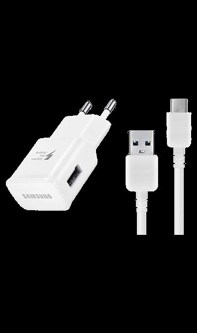 Зарядное устройство сетевое Samsung USB Type-C (белое)Зарядные устройства<br>Сетевое зарядное устройство Samsung можно использовать для зарядки аккумуляторов аппаратов с разъемом USB Type-C. Длина кабеля: 1,5 м.<br><br>Colour: Белый