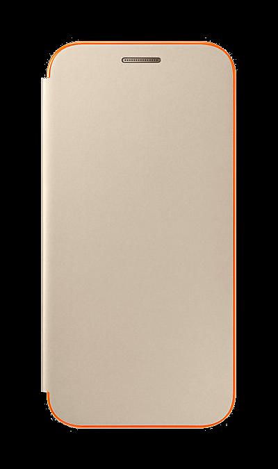 Чехол-книжка Samsung для Samsung Galaxy A3 (2017), полиуретан, золотистыйЧехлы и сумочки<br>Чехол поможет не только защитить ваш Samsung Galaxy A3 (2017) от повреждений, но и сделает обращение с ним более удобным, а сам аппарат будет выглядеть еще более элегантным.<br><br>Colour: Золотистый