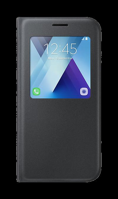 Samsung Чехол-книжка Samsung для Samsung Galaxy A5 (2017), полиуретан, черный samsung чехол крышка samsung для galaxy a5 2017 полиуретан прозрачный