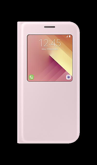Чехол-книжка Samsung для Samsung Galaxy A7 (2017), полиуретан, розовыйЧехлы и сумочки<br>Чехол поможет не только защитить ваш Samsung Galaxy A7 (2017) от повреждений, но и сделает обращение с ним более удобным, а сам аппарат будет выглядеть еще более элегантным.<br><br>Colour: Розовый