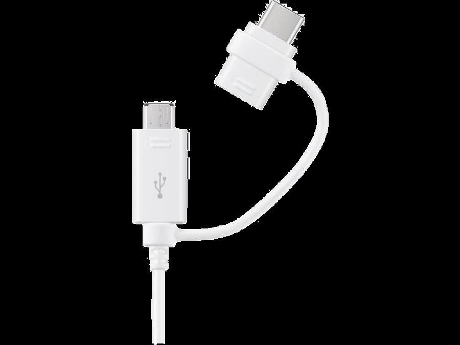 Кабель Samsung Type-C - microUSB (белый)
