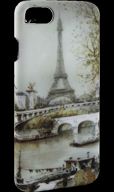i-Paint Чехол-крышка i-Paint PARIS для Apple iPhone 7/8, пластик, узор google i apple daut tolchok video na ekranah smartfonov