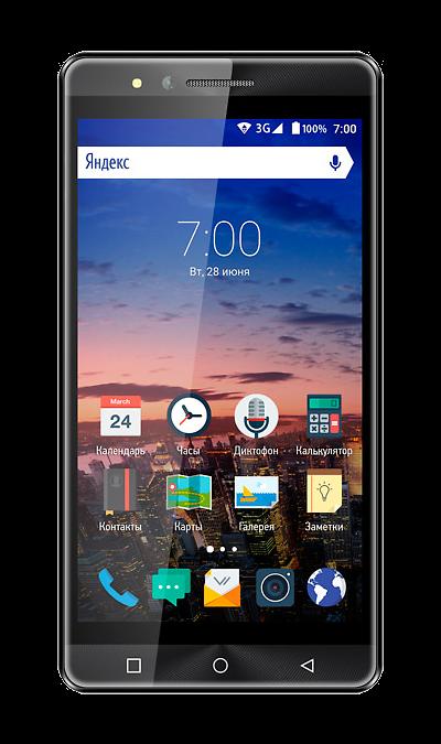 VERTEX Impress OpenСмартфоны<br>2G, 3G, Wi-Fi; ОС Android; Дисплей сенсорный емкостный 16,7 млн цв. 5; Камера 5 Mpix, AF; Разъем для карт памяти; MP3, FM,  GPS; Время работы 300 ч. / 3.0 ч.; Вес 155 г.<br><br>Colour: Черный
