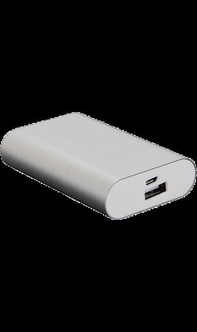 Аккумулятор Continent, Li-Ion, 5400 мАч, серебристый (портативный)Аккумуляторы внешние<br>Предназначен для заряда аккумулятора мобильных устройств: мобильных телефонов, смартфонов, планшетных компьютеров, MP3 плееров и любых других устройств, имеющих функцию заряда через порт USB. Совместим с iPhone (при наличии подходящего кабеля).<br><br>Colour: Серебристый