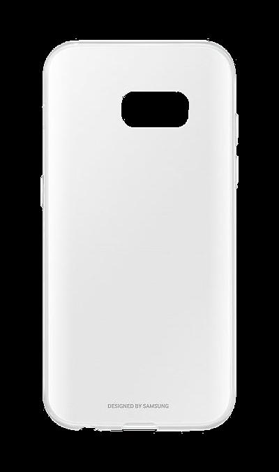 Samsung Чехол-крышка Samsung для Galaxy A5 (2017), полиуретан, прозрачный skinbox silicone chrome border 4people чехол для samsung galaxy a5 2016 dark silver