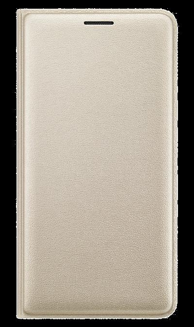Samsung Чехол-книжка Samsung для Samsung Galaxy J3 (2016), полиуретан, золотистый аксессуар чехол samsung galaxy j3 2017 cojess tpu 0 3mm transparent