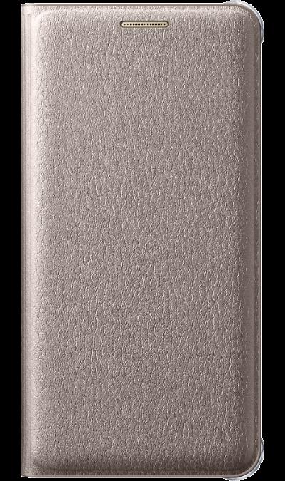 Samsung Чехол-книжка Samsung для Samsung Galaxy A5 (2016), полиуретан, золотистый samsung чехол крышка samsung для galaxy a5 2017 полиуретан прозрачный