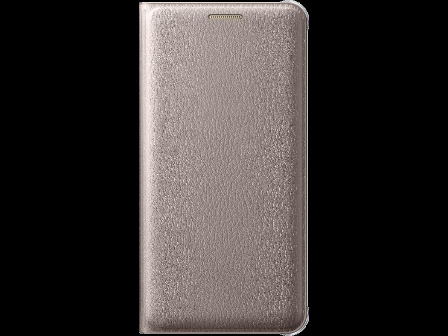 Чехол-книжка Samsung для Samsung Galaxy A3 (2016), полиуретан, золотистый