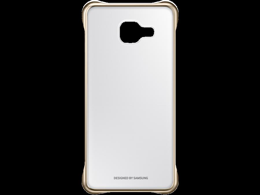 Чехол-крышка Samsung для Galaxy A3 (2016), поликарбонат (золотистая рамка)