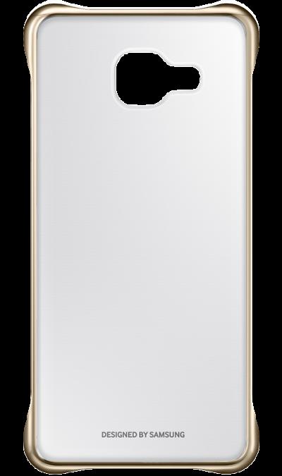 Samsung Чехол-крышка Samsung для Galaxy A3 (2016), поликарбонат (золотистая рамка) чехол для сотового телефона takeit для samsung galaxy a3 2017 metal slim металлик