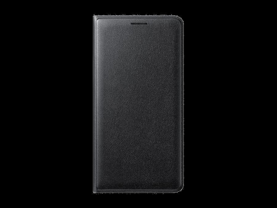 Чехол-книжка Samsung для Samsung Galaxy J3 (2016), полиуретан, черный