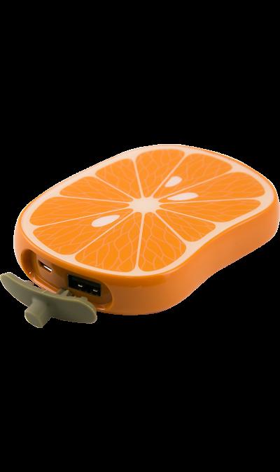 Аккумулятор Vertex Fancy Апельсин, Li-Pol, 6000 мАч (портативный)Аккумуляторы внешние<br>Резервный аккумулятор Fancy - устройство, предназначенное для зарядки портативных устройств без помощи электрической сети. Особенно актуален для путешественников и туристов в местах, где невозможен или ограничен доступ к электроэнергии. Резервный аккумулятор Hiper подходит для портативных устройств, таких как смартфоны, мобильные телефоны и МР3-плееры.<br>Для зарядки устройств Apple необходимо использовать кабель, идущий в комплекте с телефоном.<br><br>Colour: Оранжевый