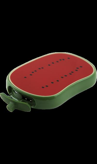 Аккумулятор Vertex Fancy Арбуз, Li-Pol, 6000 мАч (портативный)Аккумуляторы внешние<br>Резервный аккумулятор Fancy - устройство, предназначенное для зарядки портативных устройств без помощи электрической сети. Особенно актуален для путешественников и туристов в местах, где невозможен или ограничен доступ к электроэнергии. Резервный аккумулятор Hiper подходит для портативных устройств, таких как смартфоны, мобильные телефоны и МР3-плееры.<br>Для зарядки устройств Apple необходимо использовать кабель, идущий в комплекте с телефоном.<br><br>Colour: Красный
