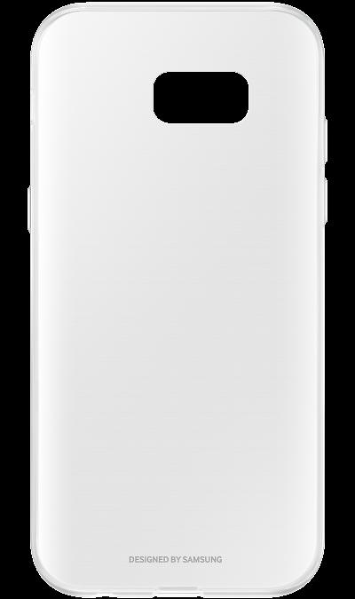 Samsung Чехол-крышка Samsung Clear Cover для Galaxy A7 (2017), поликарбонат, прозрачный крышка задняя для samsung a7 2016 a710 силикон зелёный