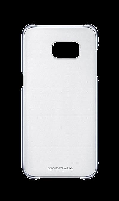 Samsung Чехол-крышка Samsung Clear Cover для Galaxy S7 Edge, поликарбонат, прозрачный (черная рамка) чехлы для телефонов burkley кожаный чехол книжка samsung galaxy s7 edge