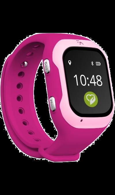 Кнопка жизни К917 розовыеУмные часы<br>Детские часы-телефон с геолокацией позволят точно узнать, где находится ваш ребенок в приложении на планшете или смартфоне, а также позвонить и поговорить с ним!<br><br>Специальная программа для телефона, планшета и ноутбука: просто установите на iPhone или Android и с этого момента вы всегда будете в курсе того, что происходит в жизни Вашего ребенка, даже когда он не рядом. Управление часами осуществляется через эксклюзивное приложение для смартфона родителей Knopka911, сделанное в ...<br><br>Colour: Розовый