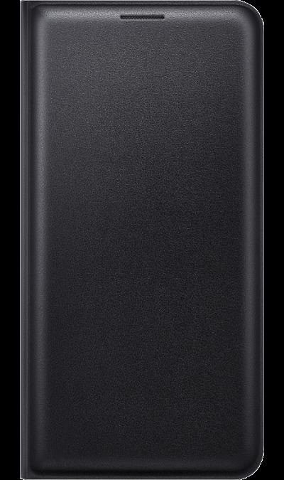 Samsung Чехол-книжка Samsung FLIP WALLET COVER для Galaxy J7 (2016), полиуретан, черный чехол книжка samsung flip wallet cover