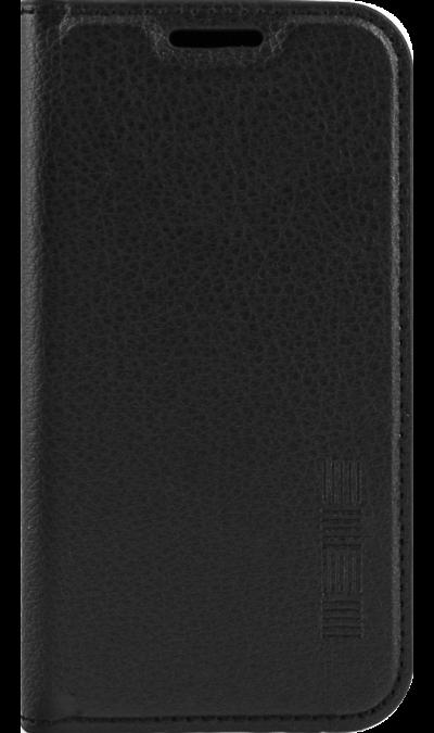 Чехол-книжка Inter-Step для Galaxy J1 mini, кожзам, черный