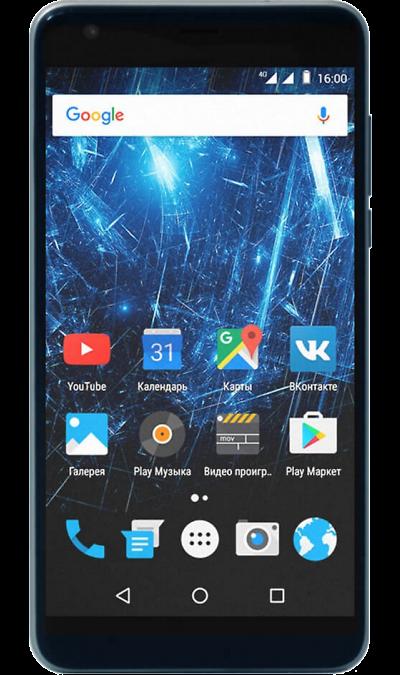 Highscreen Easy XLСмартфоны<br>2G, 3G, 4G, Wi-Fi; ОС Android; Дисплей сенсорный емкостный 16,7 млн цв. 5.5; Камера 8 Mpix, AF; Разъем для карт памяти; MP3,  GPS / ГЛОНАСС; Вес 170 г.<br><br>Colour: Серый