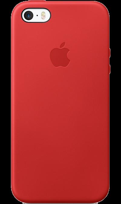 Чехол-крышка Apple Case MNYV2ZM/A для Apple iPhone 5S/SE , кожа, красныйЧехлы и сумочки<br>Этот роскошный чехол от Apple изготовлен из специально обработанной и выделанной кожи европейского производства. Поскольку он создан специально для iPhone SE, он плотно прилегает к корпусу, так что ваш телефон всё равно будет выглядеть невероятно тонким. Мягкая внутренняя поверхность чехла, выполненная из микроволокна, защитит корпус вашего iPhone. А внешняя сторона порадует вас насыщенным оттенком: благодаря специальной технологии краситель проникает глубоко в структуру кожи.<br><br>Colour: Красный