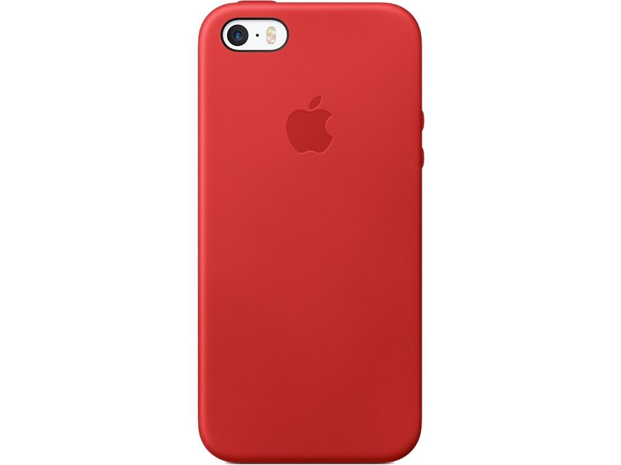 Apple Чехол-крышка Apple Case MNYV2ZM/A для Apple iPhone 5S/SE , кожа, красный