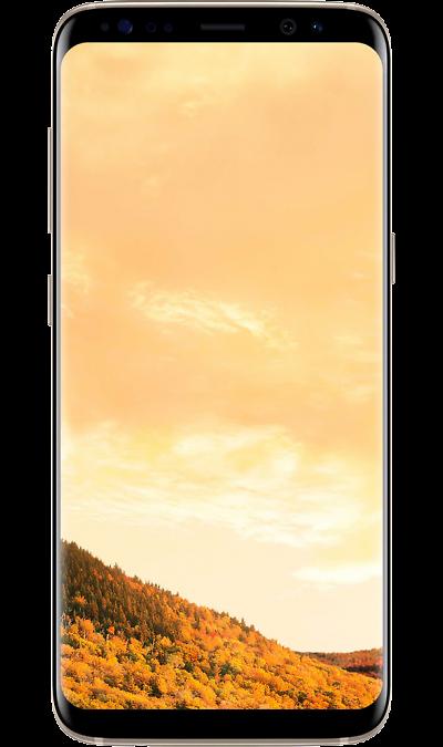 Samsung Galaxy S8 GoldСмартфоны<br>2G, 3G, 4G, Wi-Fi; ОС Android; Дисплей сенсорный емкостный 16,7 млн цв. 5.8; Камера 12 Mpix, AF; Разъем для карт памяти; MP3,  BEIDOU / GPS / ГЛОНАСС; Повышенная защита корпуса; Вес 155 г.<br><br>Colour: Золотистый