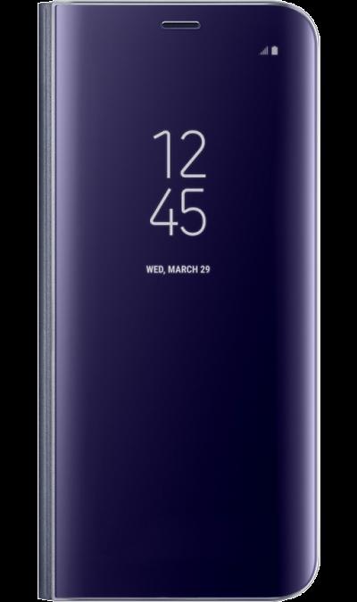 Чехол-книжка Samsung для Galaxy S8 Plus, полиуретан, фиолетовыйЧехлы и сумочки<br>Тонкий полупрозрачный чехол подчеркивает стиль и изящество смартфона. Аксессуар обеспечивает быстрый доступ к функциям - следите за информацией на экране, не открывая чехла. Сквозь прозрачную верхнюю крышку видны время, пропущенные вызовы, индикатор заряда. Флип-кейс отзывчиво реагирует на прикосновения - отвечайте на звонки одним легким движением. Чехол устойчив к появлению отпечатков пальцев - ваш смартфон всегда в аккуратном состоянии. Особое покрытие чехла защищает смартфон от повреждений, ...<br><br>Colour: Фиолетовый
