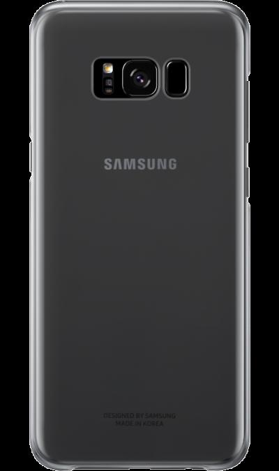Чехол-крышка Samsung для Galaxy S8, пластик, черныйЧехлы и сумочки<br>Оригинальный чехол обеспечит надежную защиту задней крышке и торцам устройства. Не сильно увеличивает размеры смартфона. Оснащен необходимыми отверстиями под порты и камеру.<br><br>Colour: Черный