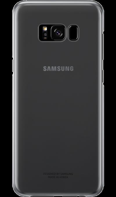 Чехол-крышка Samsung для Galaxy S8 Plus, пластик, черныйЧехлы и сумочки<br>Оригинальный чехол обеспечит надежную защиту задней крышке и торцам устройства. Не сильно увеличивает размеры смартфона. Оснащен необходимыми отверстиями под порты и камеру.<br><br>Colour: Черный
