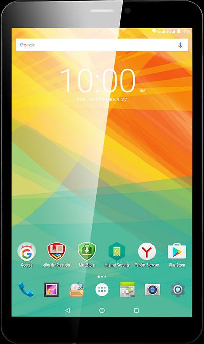 Prestigio MultiPad PMT3118Планшеты<br>2G, 3G, Wi-Fi; ОС Android; Дисплей сенсорный емкостный 16,7 млн цв. 8; Камера 2 Mpix; Разъем для карт памяти; FM,  GPS; Вес 343 г.<br><br>Colour: Черный