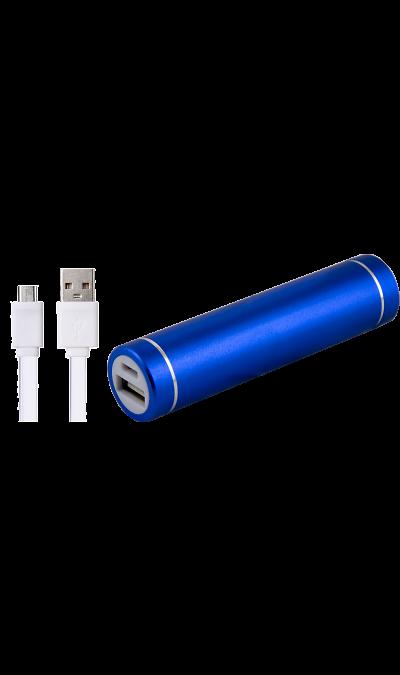 Аккумулятор  Power Bank, Li-Ion, 2500 мАч, синий (портативный)Аккумуляторы внешние<br>Резервный аккумулятор - устройство, предназначенное для зарядки портативных устройств без помощи электрической сети. Особенно актуален для путешественников и туристов в местах, где невозможен или ограничен доступ к электроэнергии. Резервный аккумулятор Continent подходит для портативных устройств, таких как смартфоны, мобильные телефоны и МР3-плееры.<br>Для зарядки устройств Apple необходимо использовать кабель идущий в комплекте с телефоном.<br><br>Colour: Синий