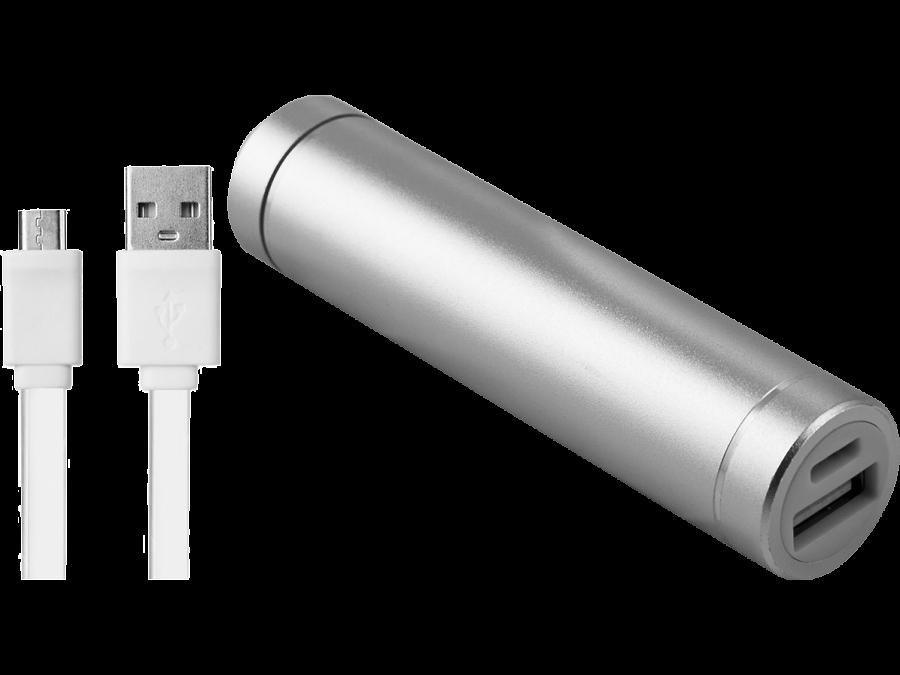 Аккумулятор NoName Power Bank, Li-Ion, 2500 мАч, серебристый (портативный)