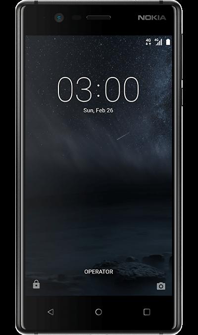 Nokia 3 BlackСмартфоны<br>2G, 3G, 4G, Wi-Fi; ОС Android; Камера 8 Mpix, AF; Разъем для карт памяти; MP3, FM,  GPS; Вес 145 г.<br><br>Colour: Черный