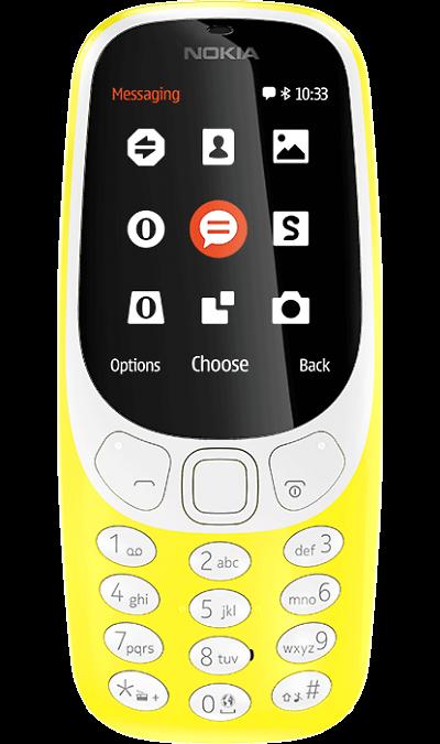 Nokia 3310 (2017) YellowТелефоны<br>2G; Камера 2 Mpix; MP3, FM; Время работы 607 ч. / 22.1 ч.<br><br>Colour: Желтый